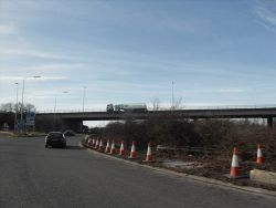 M53 Crosses the A5117 - Geograph - 2282898.jpg