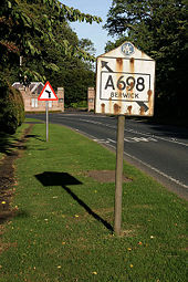 A road sign for Berwick - Geograph - 1513446.jpg