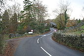 Start of footpath to Low Wray from the B5286 at Outgate - Geograph - 1597224.jpg