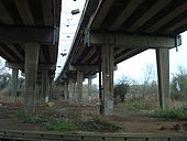 A34 Volvercote Viaduct underneath looking north - Coppermine - 16237.jpg