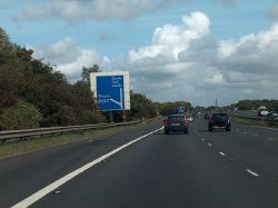 M18 heading north - Junction 6 near Thorne - Geograph - 2095088.jpg