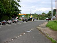 Crossroad - Chester Road and A49 near Tarporley - Geograph - 173218.jpg