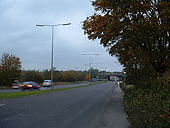 M11 J5- A1168 northbound on approach to J5 - Coppermine - 16046.jpg