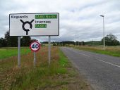 Kingswells North Junction - roundabout north appraoch direction sign on local road.jpg