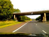 M22 overbridge just east of J3 - Coppermine - 23235.jpg