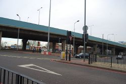 Newham Way overpass outside Canning Town Station - Geograph - 1127910.jpg