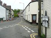 Pre-Worboys road direction sign, Stratton - Geograph - 1303450.jpg