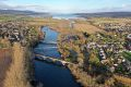 A862 Conon Bridge - three bridges aerial from West.jpg