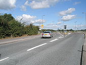 Roundabout junction on the B3397 - Geograph - 1464585.jpg