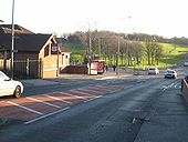 Red Star public house and mini-roundabout in Seaton - Geograph - 314430.jpg
