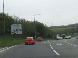 Approaching Hicks Gate Roundabout - Geograph - 2934311.jpg