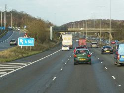 M1 northbound at junction 23 - Geograph - 3798475.jpg