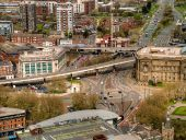View from St Johns Beacon - Churchill Way and A57 Elevated Section - Geograph - 4453551.jpg