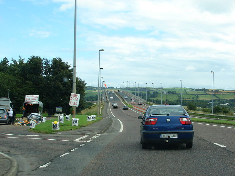 File:A515 Foyle Bridge Approach - Coppermine - 15752.jpg