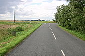 Ibberson's Drove junction with B1096 - Geograph - 498360.jpg