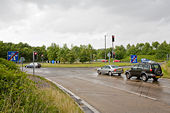 Roundabout off M3 Junction 10, WInchester - Geograph - 879688.jpg