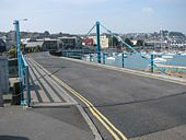 Swing bridge by Penzance harbour - Geograph - 1389779.jpg