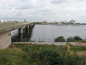 Cardiff Bay and Flyover - Geograph - 1446226.jpg