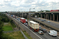 M5-M6 link - the Midlands favourite car-park - Geograph - 1439264.jpg