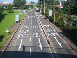 M1 Motorway- Junction 1 & A406 North Circular Road - Geograph - 501885.jpg