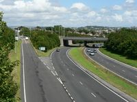 A38 and slip road to St Budeaux, Plymouth - Geograph - 915050.jpg