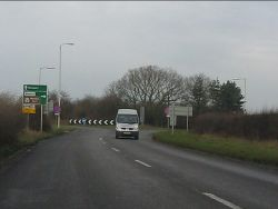 A41 meets the A5 - Geograph - 2774358.jpg