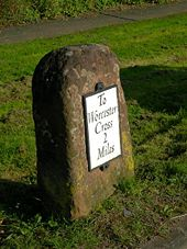 2 Miles To Worcester Cross - Geograph - 989359.jpg