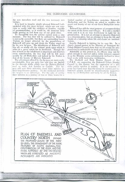 File:A6 Bakewell Bypass Proposal 1937 page 2 of 2 - Coppermine - 4645.jpg