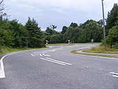 B1121 Junction with the A12 at Benhall - Geograph - 1404973.jpg