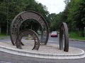 """Three Coins"" sculpture, Lifford - Geograph - 1410975.jpg"