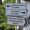 Blue-bordered sign in Chester - Coppermine - 22276.jpg