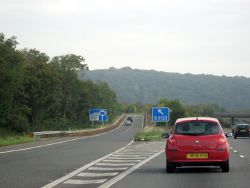 M5 Motorway - Exit 21 Northbound (C) Roy Hughes - Geograph - 2625674.jpg