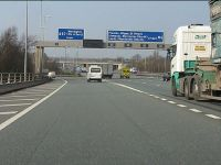 Leaving the M6 motorway, northbound at junction 21 - Geograph - 2359029.jpg