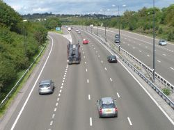 M4 eastbound approaching junction 28 - Geograph - 545650.jpg