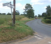 B1089 between Charsfield and Wickham Market - Geograph - 861832.jpg