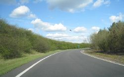 Slip road off the A428 - Geograph - 1795226.jpg