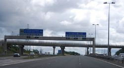 The start of the M6 (Toll) heading south - Geograph - 2654763.jpg