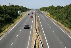 The A30 northwest of Camborne - Geograph - 189362.jpg