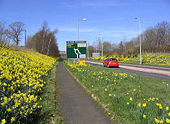 The A6091 Melrose Bypass - Geograph - 562294.jpg