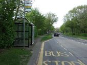Bus stop and shelter on Black Fan Road (B195) - Geograph - 5354472.jpg