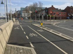 Liffey Quays cycle route.