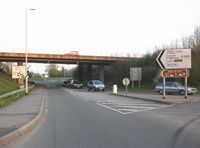 Interchange, on the A30, near Whimple - Geograph - 1812081.jpg