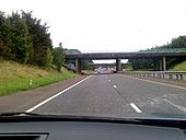 M22 J1 southbound with M2 starting just west of nearest overbridge - Coppermine - 23128.jpg