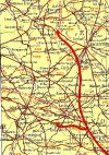 Catthorpe from Johnston's Handy Road Atlas of GB & NI 1964 - Coppermine - 23649.jpg