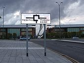 Squareabout sign on The Gateway, East Manchester - Coppermine - 20650.jpg