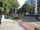 A501 lights and pedestrian crossing - Coppermine - 8614.JPG