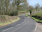 A3072 towards Copplestone - Geograph - 1727061.jpg