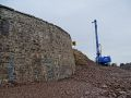 A9 Berriedale Braes Improvement - November 2019 piling rig and retaining wall.jpg