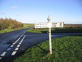 Road junction and sign at West Allerdean - Geograph - 285729.jpg