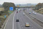 Towards junction 20 of the M1 Motorway - Geograph - 606705.jpg